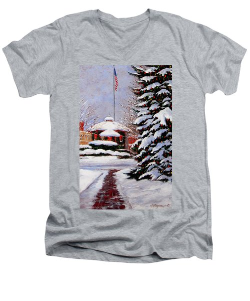 Christmas In Chagrin Falls Men's V-Neck T-Shirt