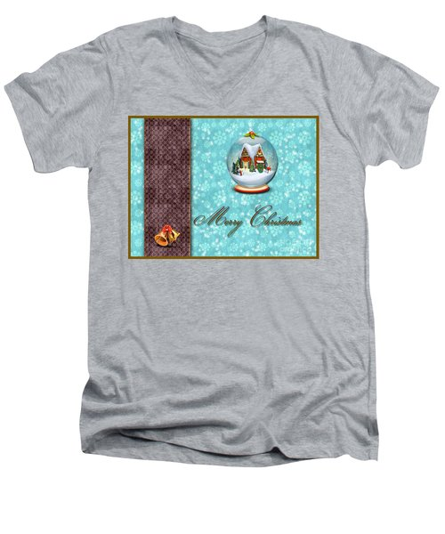 Christmas Card 13 Men's V-Neck T-Shirt