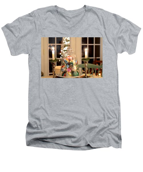 Christmas Ornaments Men's V-Neck T-Shirt