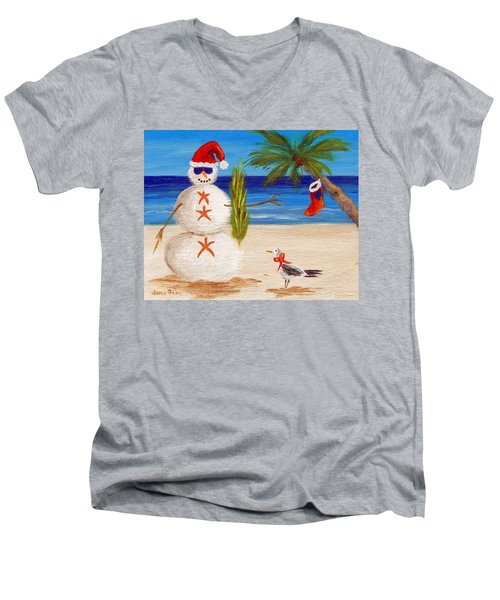 Christmas Sandman Men's V-Neck T-Shirt