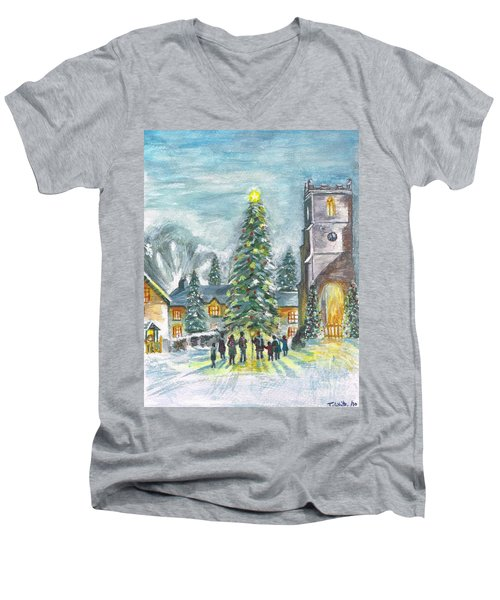 Christmas Spirit Men's V-Neck T-Shirt by Teresa White