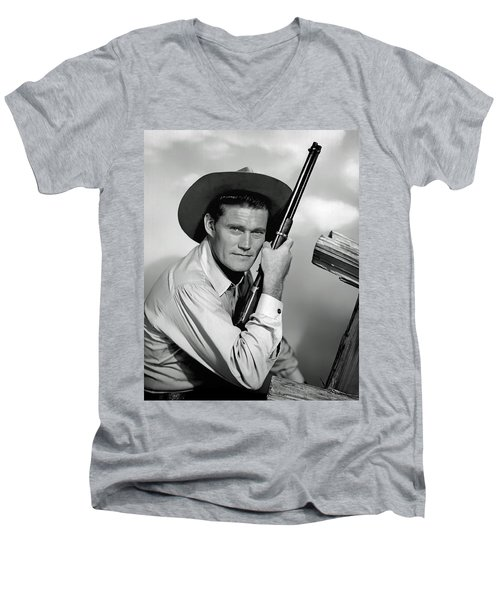 Chuck Connors - The Rifleman Men's V-Neck T-Shirt