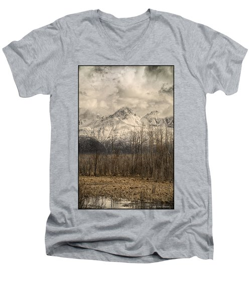 Chugach Mountains In Storm Men's V-Neck T-Shirt