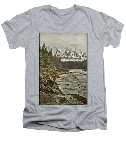 Chugach Range Men's V-Neck T-Shirt