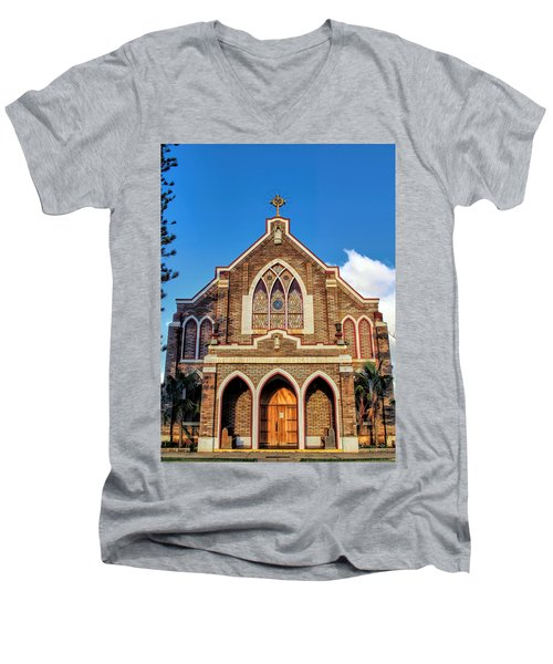 Men's V-Neck T-Shirt featuring the photograph Church 1 by Dawn Eshelman
