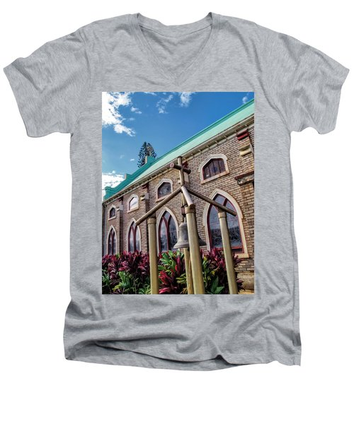 Men's V-Neck T-Shirt featuring the photograph Church 5 by Dawn Eshelman