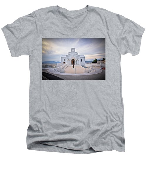 Church Of Croatian Martyrs In Udbina Men's V-Neck T-Shirt by Brch Photography