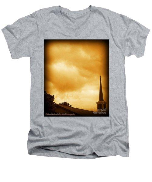 Church Steeple Men's V-Neck T-Shirt