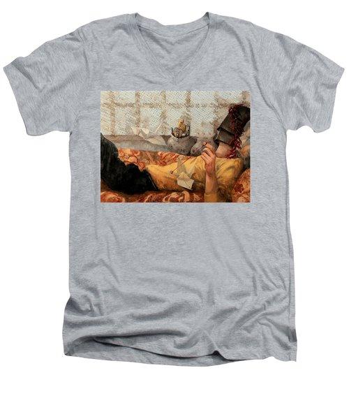 Cicogna Da Passeggio Men's V-Neck T-Shirt