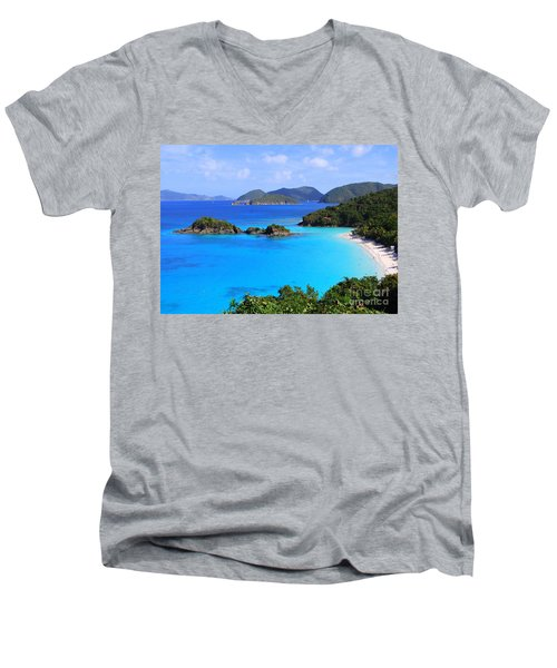 Cinnamon Bay St. John Virgin Islands Men's V-Neck T-Shirt