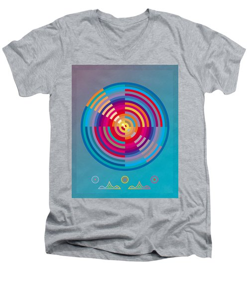 Circles Men's V-Neck T-Shirt by David Klaboe
