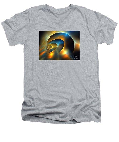 Circumbinary Men's V-Neck T-Shirt by Kim Sy Ok