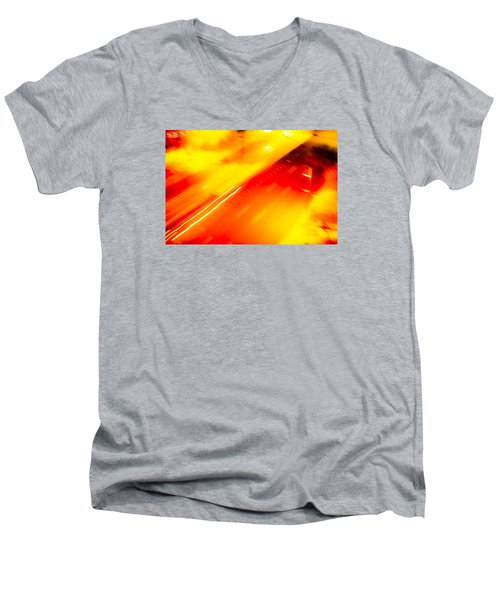 City Lights 1 Men's V-Neck T-Shirt