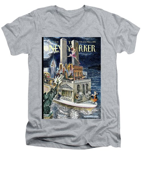 City Of Dreams Men's V-Neck T-Shirt