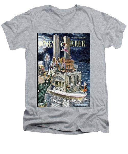 City Of Dreams Men's V-Neck T-Shirt