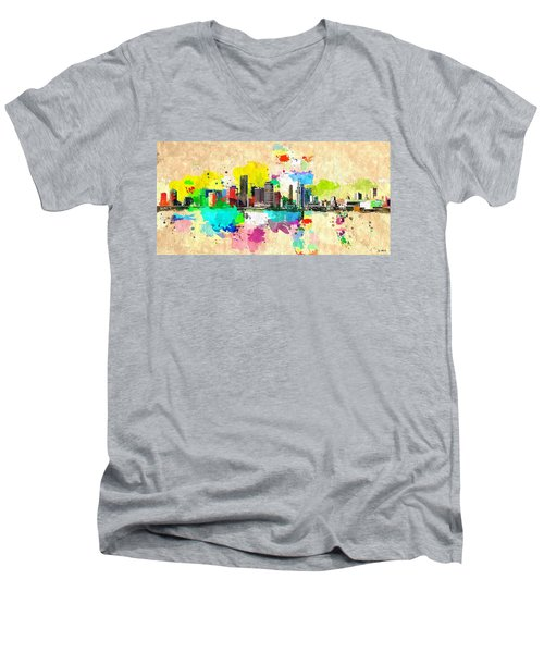City Of Miami Grunge Men's V-Neck T-Shirt