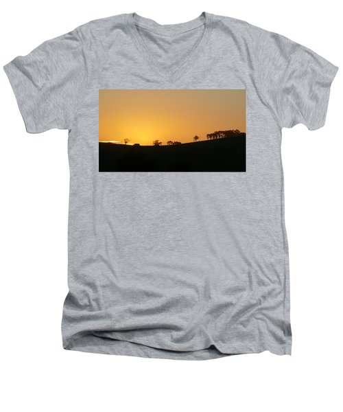 Men's V-Neck T-Shirt featuring the photograph Clarkes Road by Evelyn Tambour