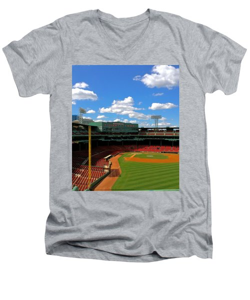 Classic Fenway I  Fenway Park Men's V-Neck T-Shirt by Iconic Images Art Gallery David Pucciarelli