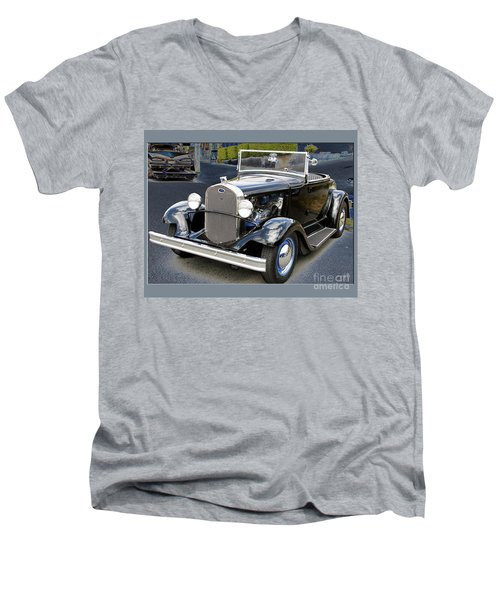 Men's V-Neck T-Shirt featuring the photograph Classic Ford by Victoria Harrington