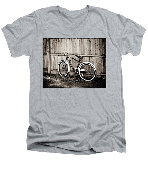 Men's V-Neck T-Shirt featuring the photograph Classic Ride by Sara Frank