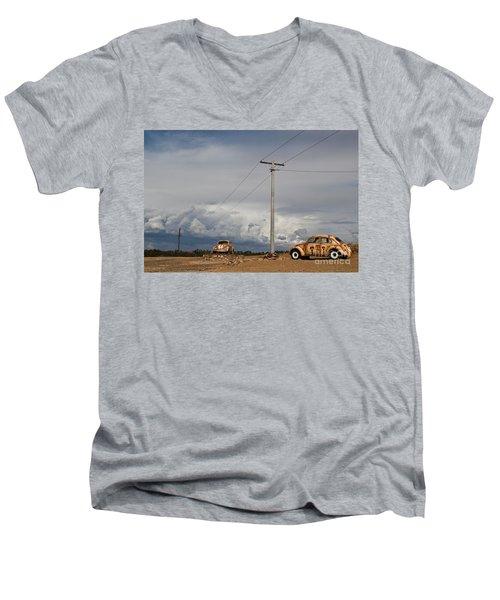 Classic Volkswagen Beetle Men's V-Neck T-Shirt by Lana Enderle