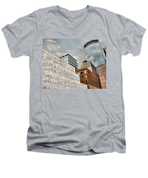 Classical Graffiti Men's V-Neck T-Shirt by Kristin Elmquist