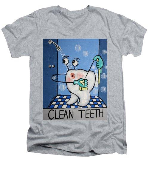 Clean Teeth Men's V-Neck T-Shirt