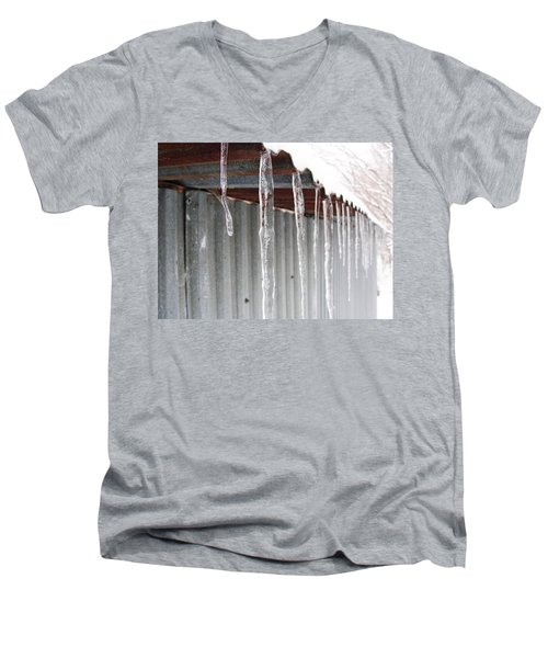 Men's V-Neck T-Shirt featuring the photograph Clear As Glass by Tiffany Erdman