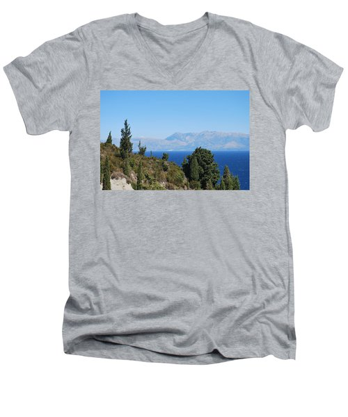 Men's V-Neck T-Shirt featuring the photograph Clear Day by George Katechis