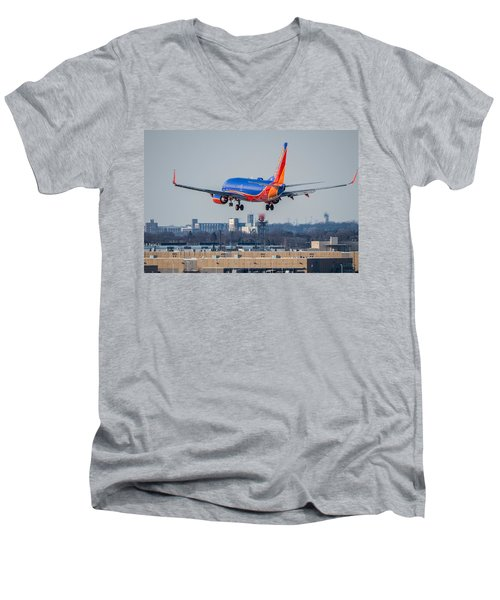 Cleared For Landing Men's V-Neck T-Shirt by Tom Gort