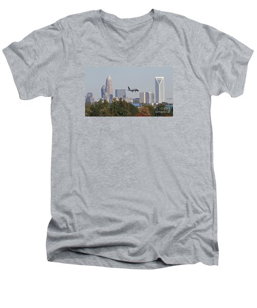 Cleared To Land Men's V-Neck T-Shirt by Kevin McCarthy