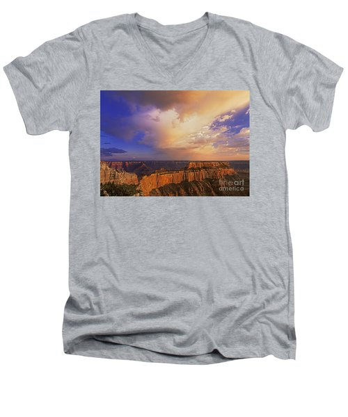 Clearing Storm Cape Royal North Rim Grand Canyon Np Arizona Men's V-Neck T-Shirt by Dave Welling