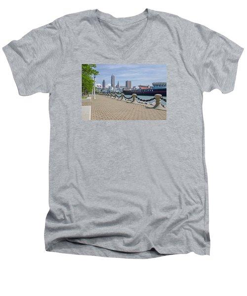 Cleveland Lake Front Men's V-Neck T-Shirt