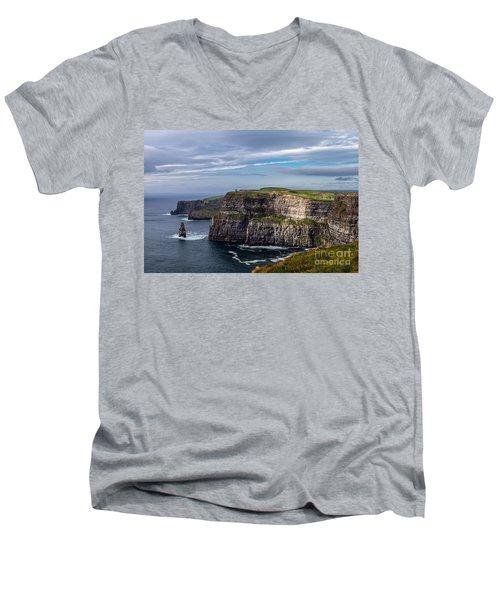 Cliffs Of Moher I Men's V-Neck T-Shirt by Juergen Klust