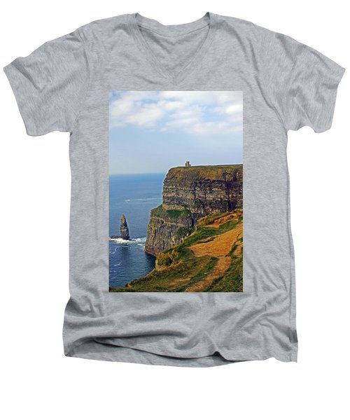 Cliffside Steeple Men's V-Neck T-Shirt