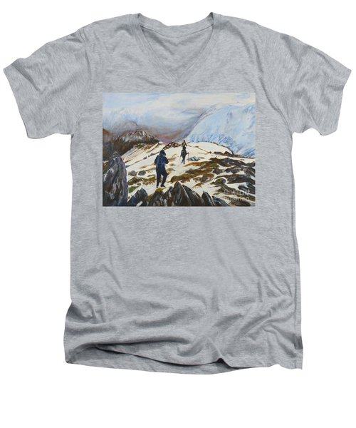 Climbers - Painting Men's V-Neck T-Shirt