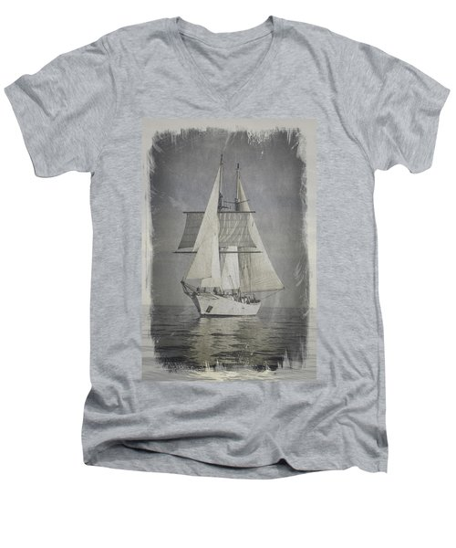 Clipper Under Sail Men's V-Neck T-Shirt