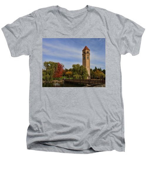 Clocktower Fall Colors Men's V-Neck T-Shirt