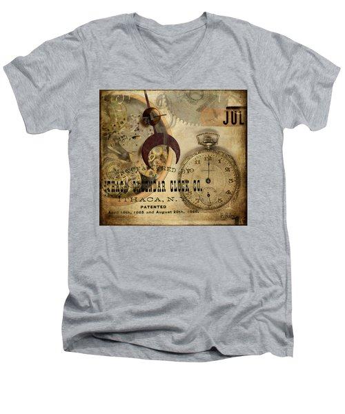 Clockworks Men's V-Neck T-Shirt