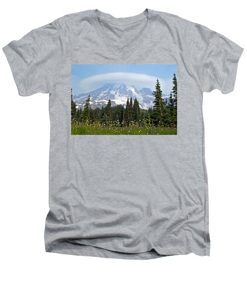 Cloud Capped Rainier Men's V-Neck T-Shirt