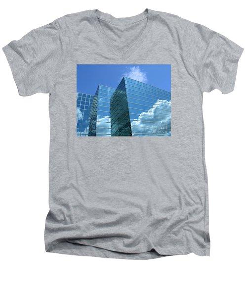 Cloud Mirror Men's V-Neck T-Shirt by Ann Horn