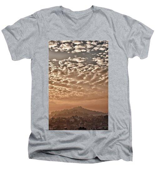Cloud Over Kathmandu Men's V-Neck T-Shirt