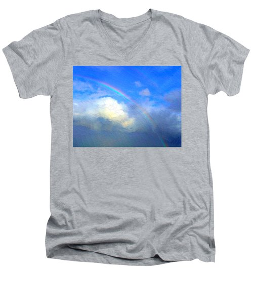 Clouds In Ireland Men's V-Neck T-Shirt by Bruce Nutting