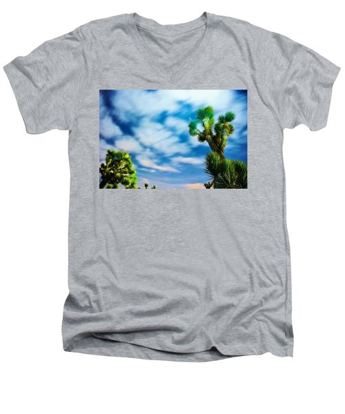 Men's V-Neck T-Shirt featuring the photograph Clouds On The Move by Angela J Wright