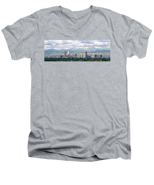 Clouds Over Skyline And Mountains Men's V-Neck T-Shirt