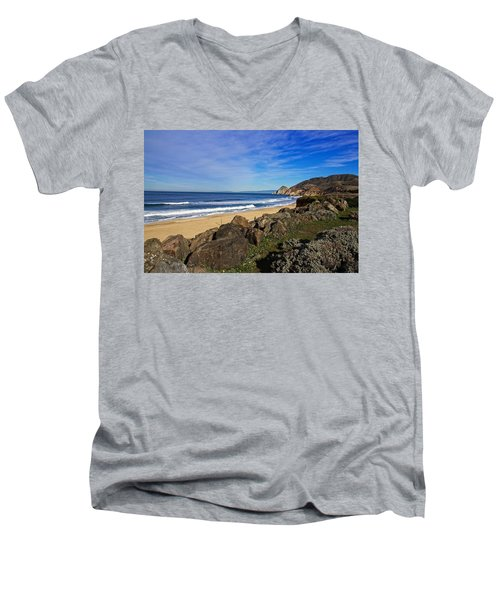 Men's V-Neck T-Shirt featuring the photograph Coastal Beauty by Dave Files