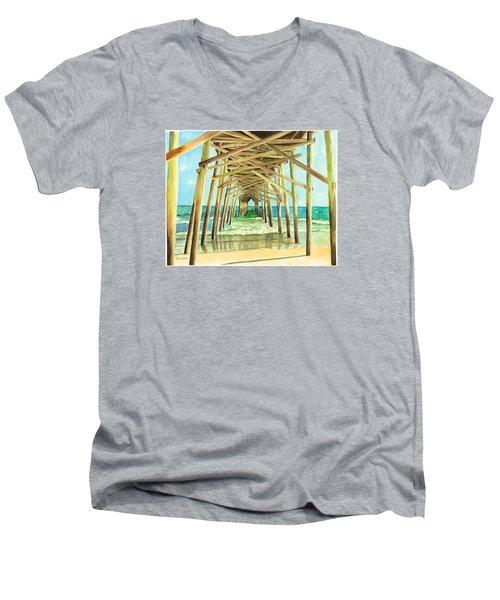 Coastal Cathedral  Men's V-Neck T-Shirt