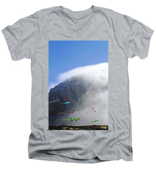 Coastal Kites Men's V-Neck T-Shirt