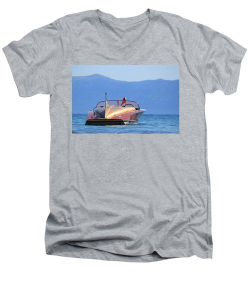 Cobra At Tahoe Men's V-Neck T-Shirt