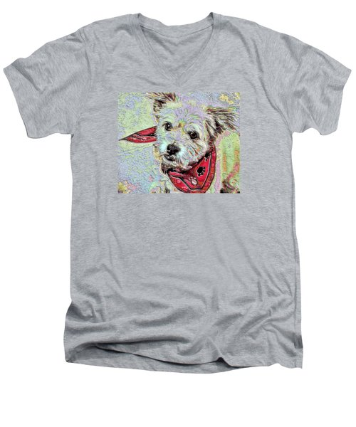 Cocoa On The Poster Men's V-Neck T-Shirt by Vickie G Buccini
